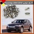15 Pcs Canbus LED Branco Luzes Kit Pacote Interior Do Carro SMD Lâmpadas Fácil Isolamento Qualidade Superior Fit VW Touareg 2004-2010