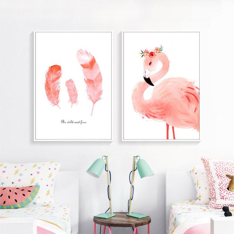 original aquarell sch ne rosa flamingo poster drucken tier. Black Bedroom Furniture Sets. Home Design Ideas