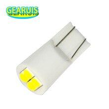 100 t10 4 smd 3030 led 501 w5w 194 168 60ma cunhas interior do carro instrumento luzes de leitura bagagem porta do carro luz led branco