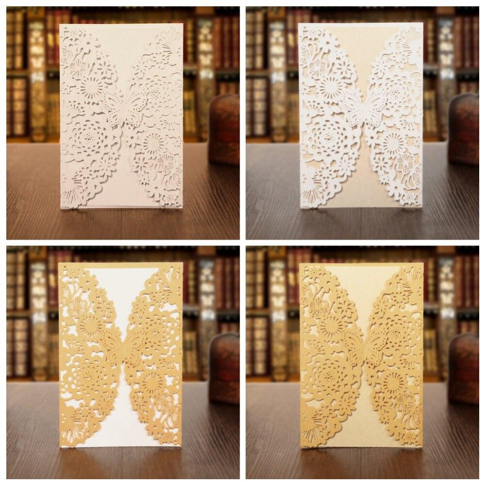 Tienda Online Kazipa 25 unids/set laser cut invitaciones tarjetas ...