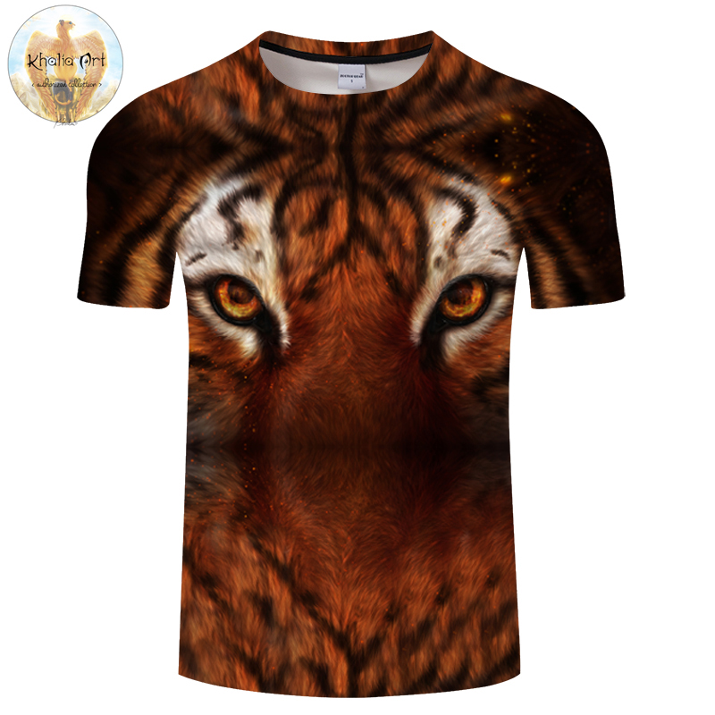 My home is destroyed By KhaliaArt Tiger 3D Print T shirt Men Women Summer Casual ShortSleeve Top&Tee Tshirt Streetwear DropShip