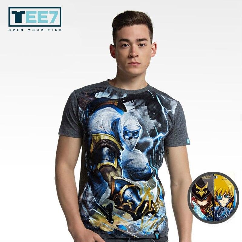 Men's Clothing Tee7 Game Lol Cotton T Shirt Leesin Ezreal Yasuo Ryze Jarvan Iv Fiora Short Sleeve O-neck Fashion T-shirts Mens Casual Clothes Fragrant Aroma