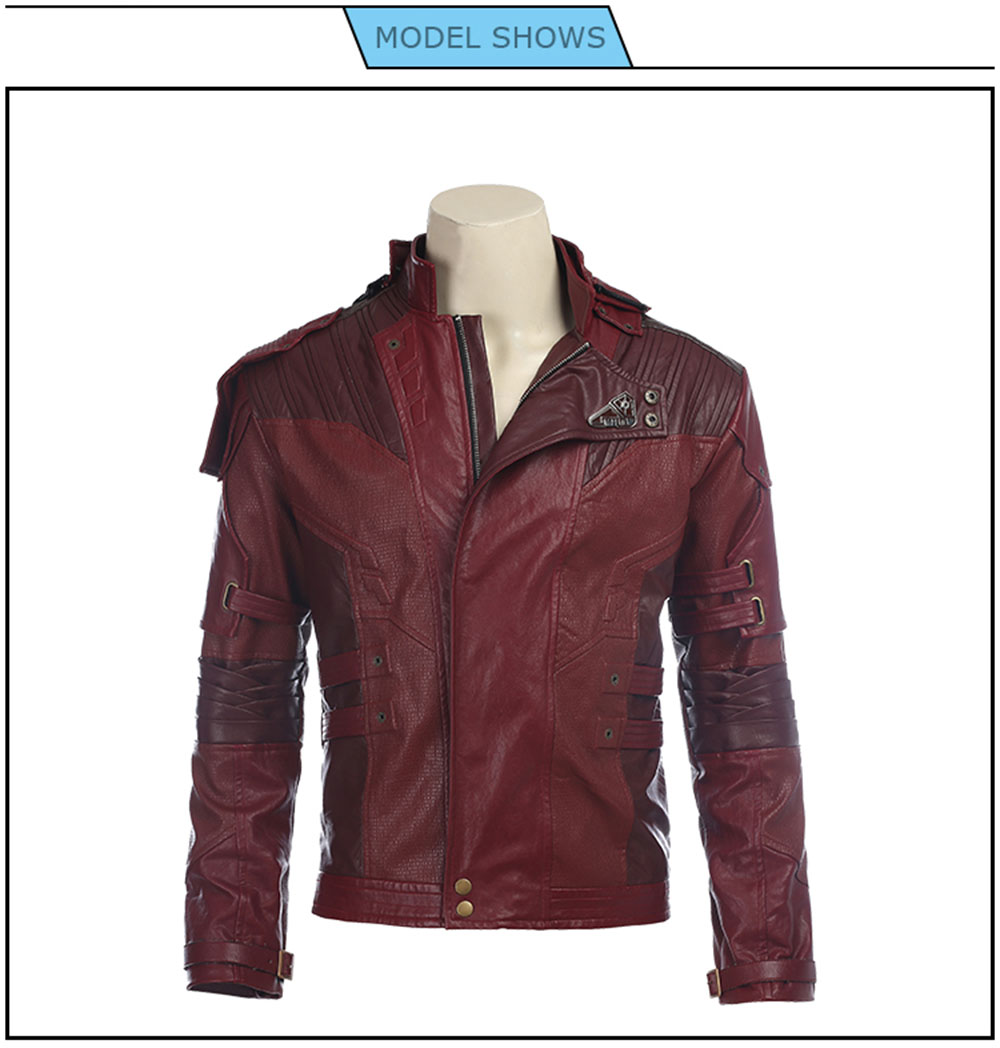 Star Lord Jacket Short Jacket Cosplay Halloween Costume Guardians of The Galaxy 2 Peter Quill Cosplay Costume Leather Jacket