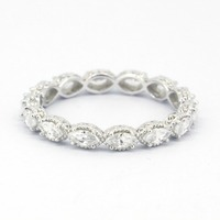 Solid 925 Sterling Silver Stackable Wedding Ring