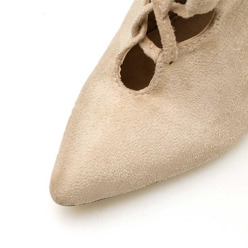 2019 mode femmes 11.5cm talons hauts fétiche tricot sandales bottes à lacets croix cravate bottines talons Scarpins chaussures YMN-34
