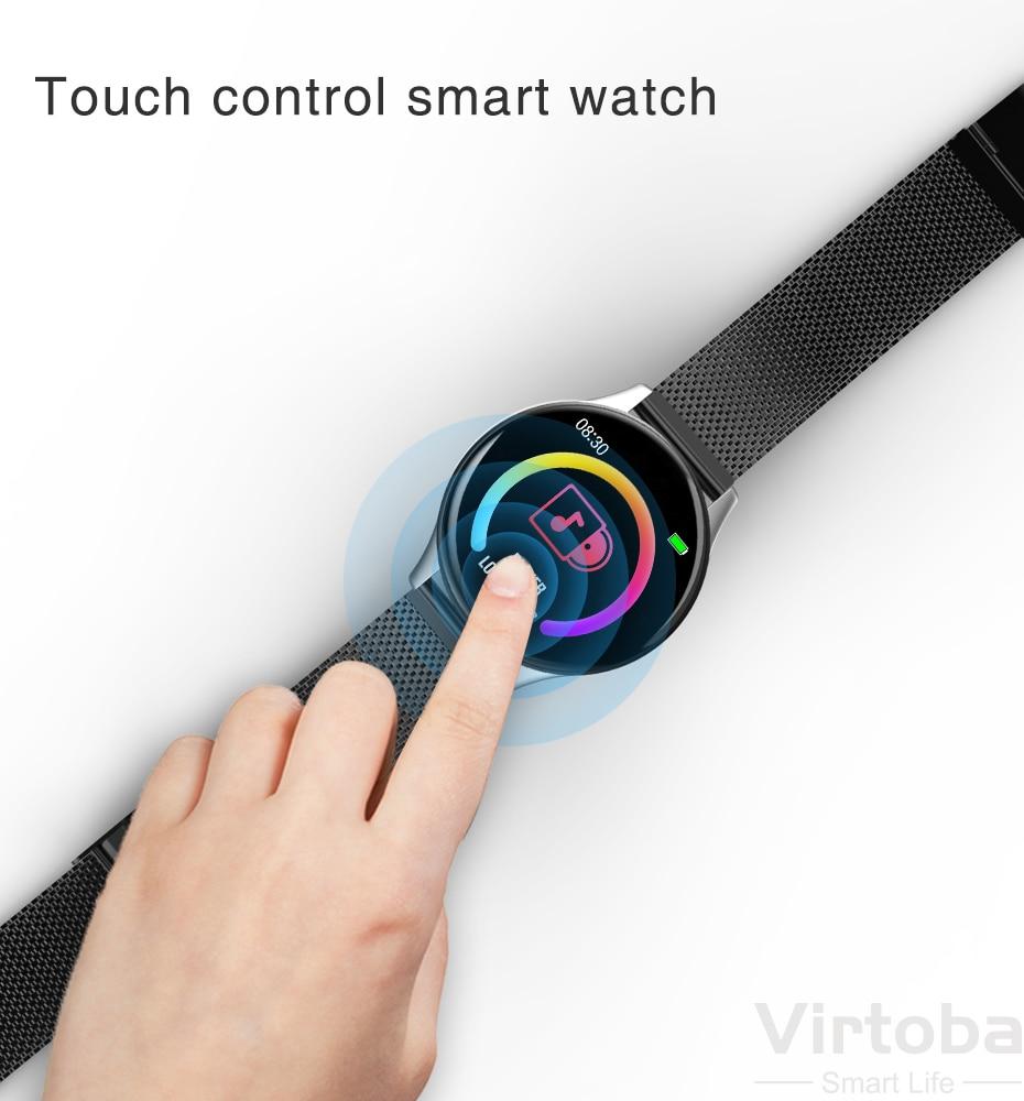 Virtoba CN58 Smart Watch 1.3'' Toughened Glass Touch Screen Smartwatch Man Women Blood Pressure IP68 Waterproof Fitness Tracker 6