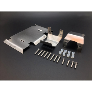 Image 1 - Полный комплект, металлические бронированные пластины, защитные наборы для 1/10 Gmade GOM GR01 RC Car OP Refit детали