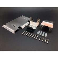 Juego completo de placa de armadura de Metal, Kits de protección de carcasa de cuerpo para 1/10 Gmade GOM GR01 RC Car OP Refit Parts