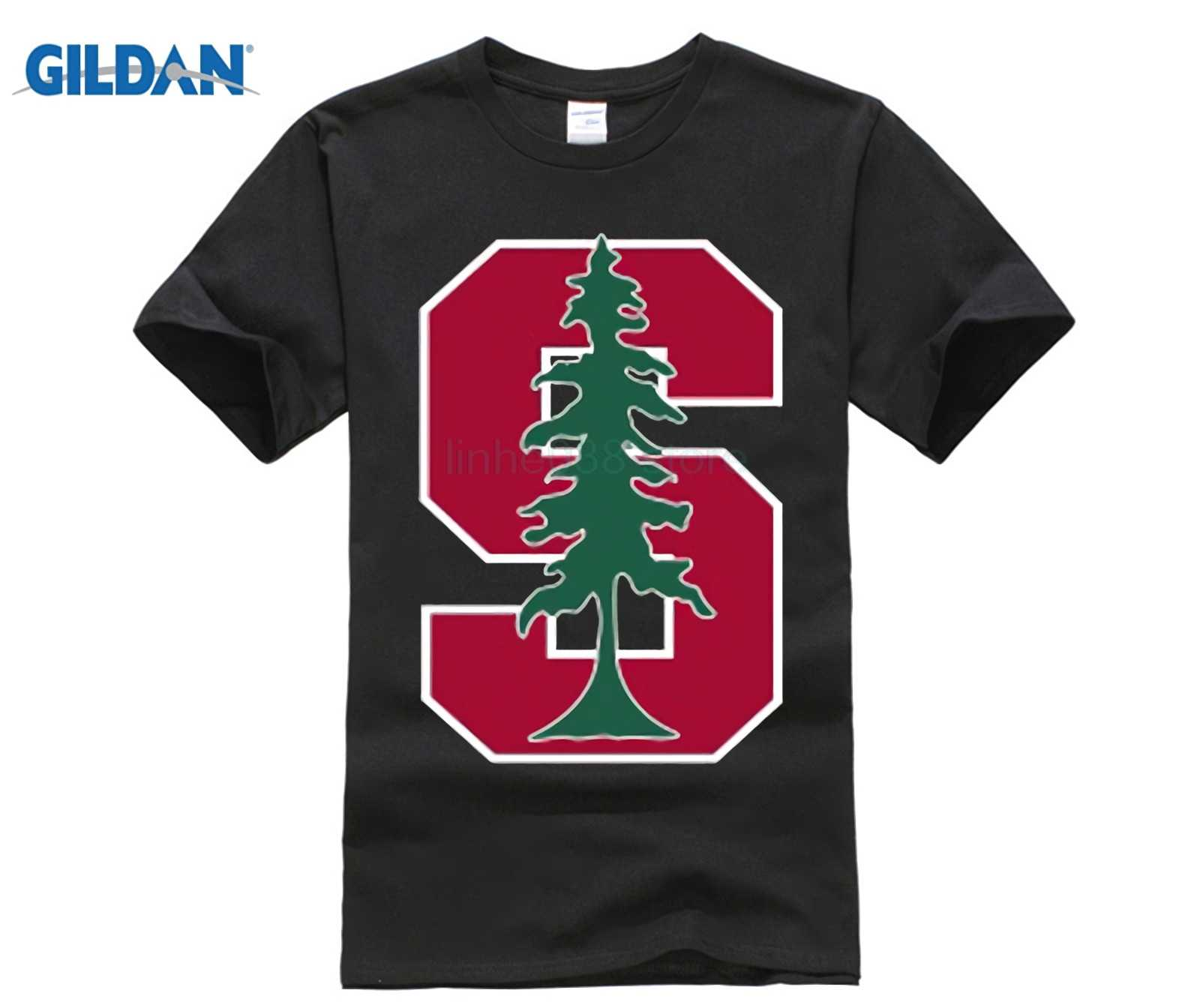 633aac8af GILDAN New Stanford University Logo Men's White Black T-Shirt Size S M L XL  2XL Summer Short Sleeves New Fashion T Shirt Couple