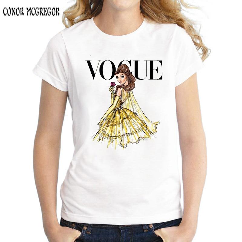 mujer new tattoo vogue princess snow white Women Tshirt harajuku cartoon print T Shirt casual Top Tee short sleeve