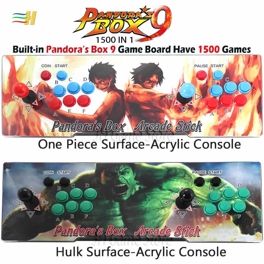 Nuovo 2 Giocatori Pandora Box 9 Acrilico Console Costruito in 1500 in 1 Gioco Arcade Plug and play usb joystick per pc ps3 di pandora 5 s 7