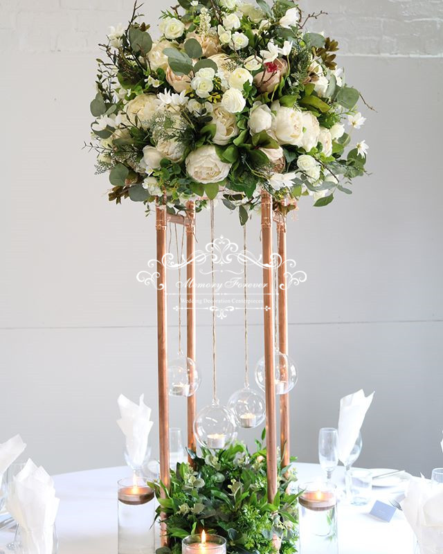 Flower Vases For Weddings: Floor Vase Metal Flower Vase Table Centerpiece For