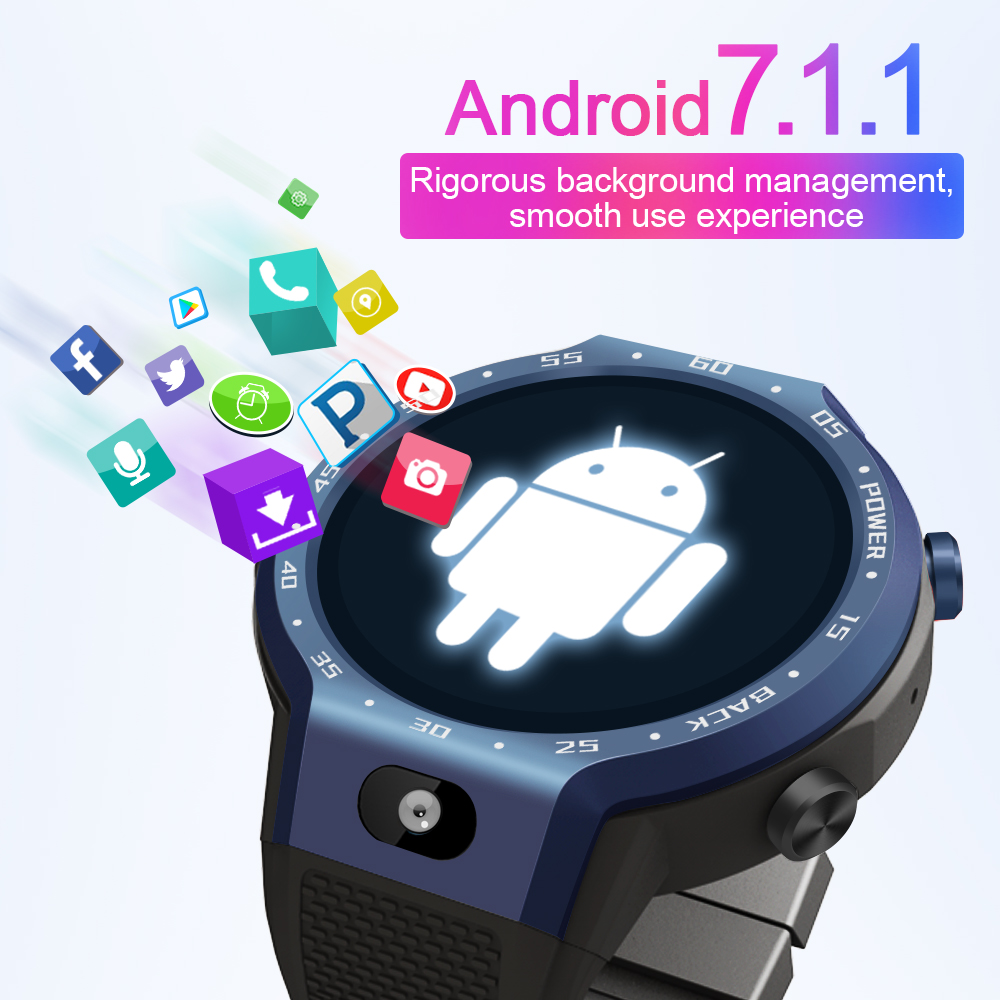 LEMFO LEM9 4G LTE โทรศัพท์สมาร์ทนาฬิกา Android 7.1.1 ระบบ Dual 16GB + 1GB 5MP กล้องด้านหน้าสแตนด์บาย 5 วัน Smartwatch GPS WIfi-ใน นาฬิกาข้อมืออัจฉริยะ จาก อุปกรณ์อิเล็กทรอนิกส์ บน AliExpress - 11.11_สิบเอ็ด สิบเอ็ดวันคนโสด 3