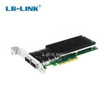 LR LINK 9902BF 2QSFP + 40 Gb NIC PCI اكسبريس بطاقة الشبكة الألياف PCI e البصرية ميناء المزدوج خادم محول متوافق إنتل XL710 QDA2