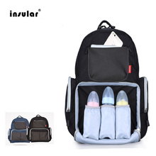 Insular Mummy Maternity Diaper Nappy Bag Organize Large Capacity Baby Bag Backpack Nursing Bag for Mother Kids Baby Care цена