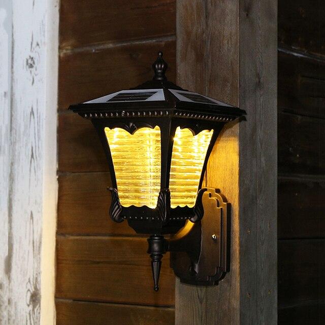 Solar Led Garten Wand Lampe Aussen Villa Balkon Aussen Beleuchtung