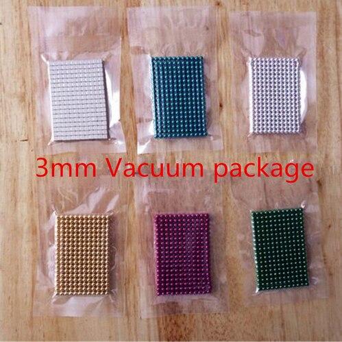 3mm 216pcs Neodymium Magnetic Balls Magic DIY Toy Puzzle Magnet Block Cubo Neo Dice Vacuum Package deal