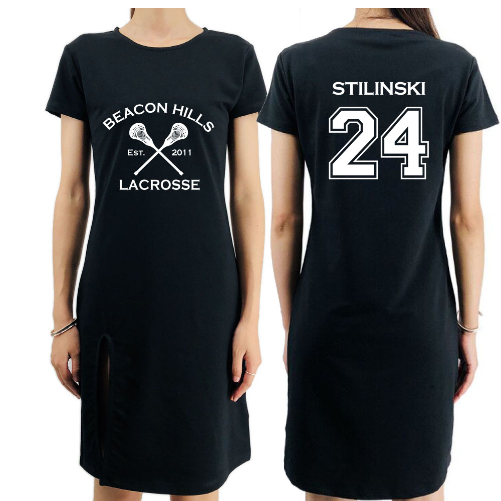 Beacon Hills Lacrosse Womens Movie Dress Long Black Party Dress TEEN WOLF STILINSKI LAHEY HALE Ladies Summer Fashion Dresses