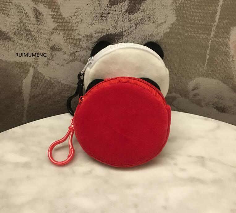 New Trên 2 Màu Sắc, Ít Gấu Trúc Sang Trọng TÚI Đồng Xu; 8 cm Nhỏ Móc Chìa Khóa Sang Trọng TÚI Đồng Xu, đồng xu Pouch Wallet Purse
