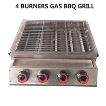 Get more info on the GZZT 4 Burners BBQ Grill LPG Gas Stainless Steel Barbecue For Outdoor Picnic Roasting With Glass Cover Kitchen Tool