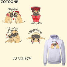 ZOTOONE Lovely Dog Patch Iron on Patches for Clothing DIY Jacket T-shirt Grade-A Thermal Transfer Parent-child Attire