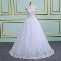 Custom Size Romantic Lace Appliques Wedding Dress 2018 Fashionable Bride Gowns Cheap Bridal Dresses vestidos de novia