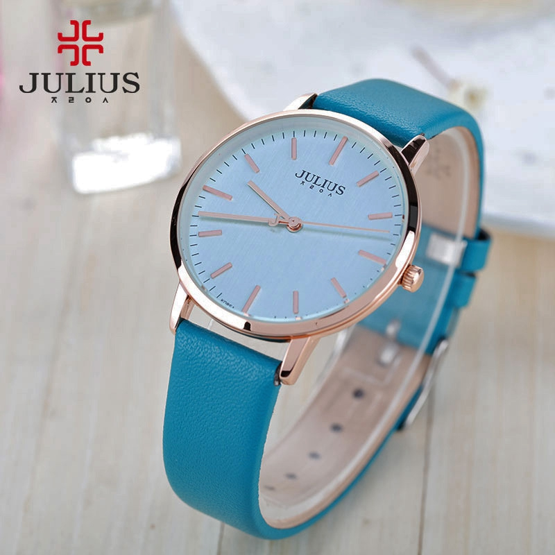 New high quality girls Ultrathin simple women fashion casual quartz wristwatch leather band watch Classy design