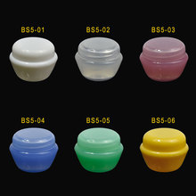 Thicken 5Pcs/pack 5g/ml Mini Cosmetic Empty Jar Pot Eyeshadow Makeup Face Cream Container Refillable Bottles 33.5*24mm (6colors)