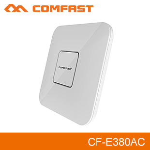 Prix pour 2 pcs 1750 Mbps AC wifi routeur 2.4G + 5.8G double-bande Wifi Répéteur Point D'accès Wi Fi CF-E380AC plafond sans fil AP soutien openWRT