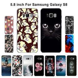 Чехол для телефона для Samsung Galaxy S8 g950 G950F G9500 SM-G9500 чехол для телефона из мягкого силикона ТПУ с рисунком вспыш и чудо-Обложка с рисунком для S8