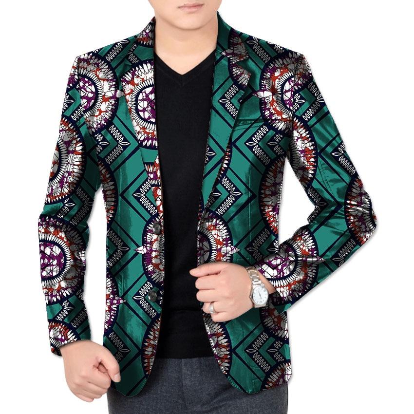 African Print Men Long Sleeve Coat Africa Dashiki Festive Formal Blazers Customize African Man s Suit
