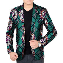 African Print Men Long Sleeve Coat Africa Dashiki Festive Formal Blazers Customize African Man's Suit Jacket African Costum