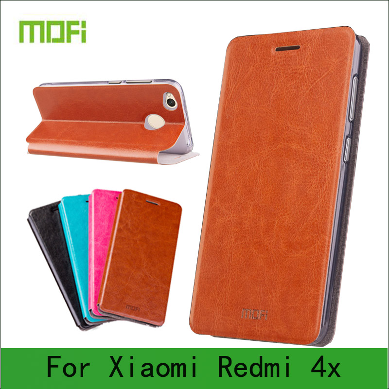 Mofi Case For Xiaomi Redmi 4X Case Book Flip Style High Quality Mobile Phone Case For Redmi 4X Stand Cover