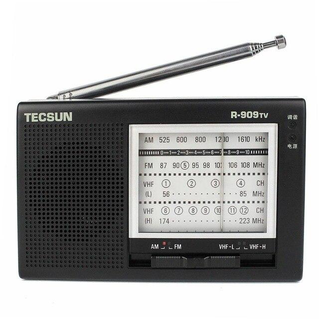 Tecsun R-909TV радио FM / AM / укв вещание радио 56 - 108 мГц портативный многополосный радио черный Y4156A