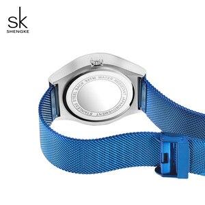 Image 5 - Shengke Creatieve Vrouwen Horloges Luxe Rvs Vrouwelijke Quartz Horloge Reloj Mujer 2019 SK Dames Polshorloge Montre Femme