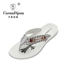 Mens flip flops Genuine leather Slippers Summer fashion beach sandals shoes for men plus size Eur :38-43 pantufa Hot Sell
