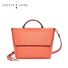 JESSIE & JANE Designer Brand New Style Unique Leather Women's Shoulder Bag Top-Handle Bags Saddle Bag 1753