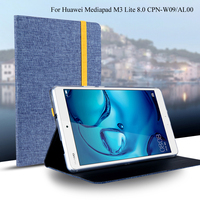 Case For Huawei Mediapad M3 Lite 8 0 CPN W09 AL00 Smart Cover Tablet Silicon Cloth