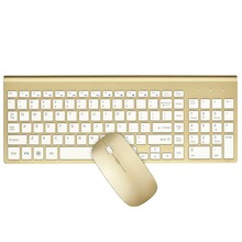 Wireless Keyboard and Mouse Combo Full-sized 2.4GHz with 102 Keys Power-saving for Home Office