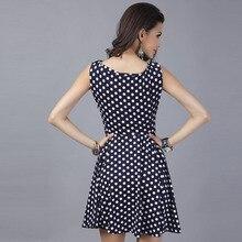 Polka dot dress Women 2018 summer sleeveless sexy sundress office Shirt ukraine Dress blue elegant office work robe femme tunics