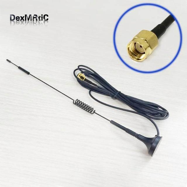1 ăng ten 2.4 GHz 7dBi độ lợi Cao Omni Ăng Ten WIFI đế Từ Tính 3 m RP SMA Đực Cắm cổng kết nối số 1 wifi Antena tăng áp