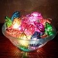 Tailândia Artesanal Sepak Takraw Rattan Luzes Da Corda Do Coração Luminaria Luces Navidad Guirlande Guirlanda de Natal Luzes De Fadas