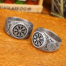 pagan Vegvisir Compass Ring Norse Viking Jewelry Dorp Shipping 1(China)