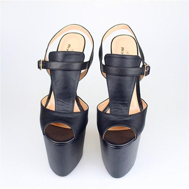 136468b62d9f Heysimey 22cm ultra thin heel pump extreme high HEEL with platform women  shoes peep toe ankle strap fashion show sexy lady pump