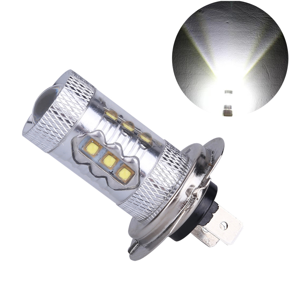 h7 car led fog 80w  white light turn signal Bulbs led h7 2000lm Tail Lamp with  Lens Auto DRL Parking Brake  Bulb replacement car cob led h7 bulb fog light parking lamp bulbs driving foglight 7 5w drl 2pcs amber yellow white red ice blue