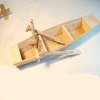 El yapımı Çin Antik Aracı Ahşap El Sanatları Düz Yelkenli ahşap Tekne Modeli Ahşap Maskot Dekoratif zanaat/Iyi hediye Seçimi