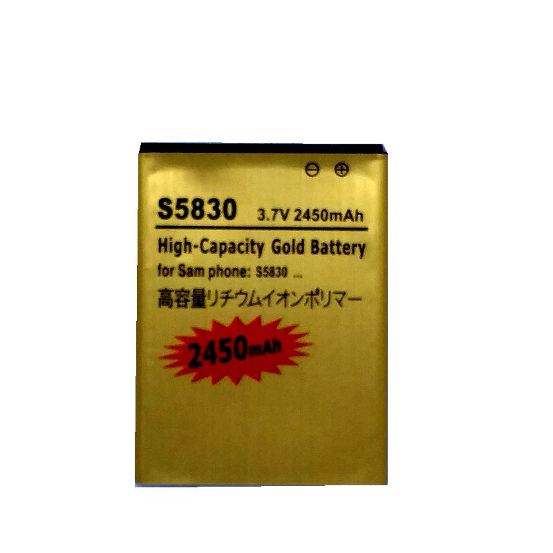 S5830 Battery for Samsung Galaxy Ace <font><b>S5660</b></font> S7250D S5670 i569 I579 <font><b>GT</b></font>-S6102 S6818 Rechargeable Accumulator Batterie on the Phone image
