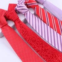 Cravate Mens Kravatlar Için 2017 Yeni Parti Boyun Kravat Katı Altın Kravatlar Erkekler Ipek Düğün Kravat 8 cm Ince Gravata