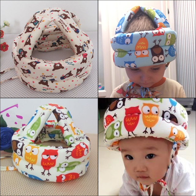 Baby Toddler Cap Anti-collision Protective Hat Baby Safety Helmet Soft Comfortable Head Security&Protection Adjustable