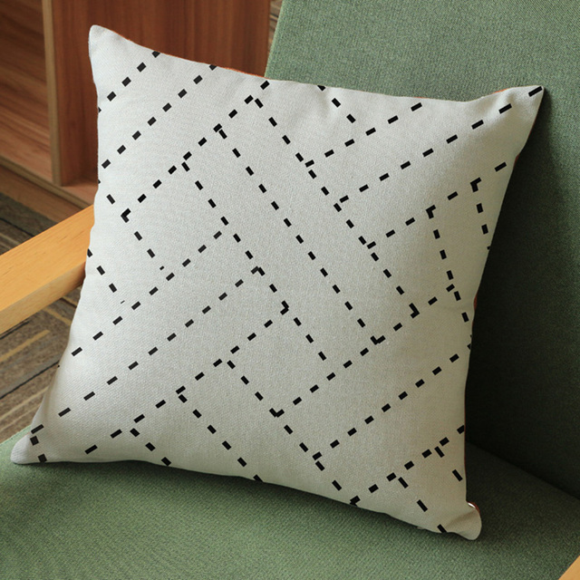 Beige Cotton Linen Geometric Cushion Cover Euro Nordic Outdoor Camping Pillowcases Beach Chair Pillow Case Washable
